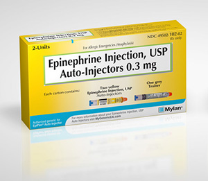 Mylan released a generic epinepherine injectable at half the price of EpiPen.