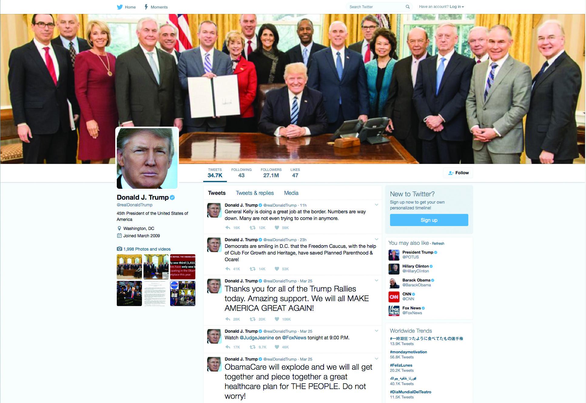 Boards Prepared For Trump Twitter Tirade